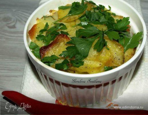 Картофель, запеченный с салями