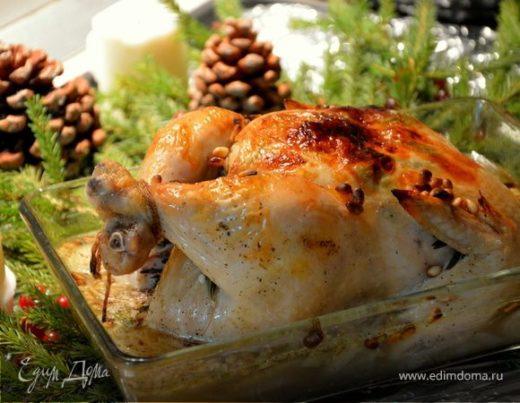 Цыпленок с чесноком и травами