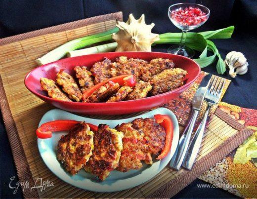 Куриные котлеты с рисом и овощами