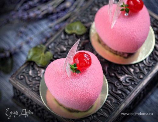 Муссовое пирожное «Зимняя вишня»