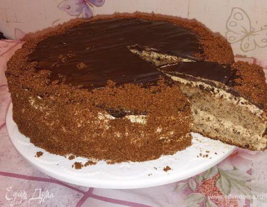 Ореховый торт с черносливом