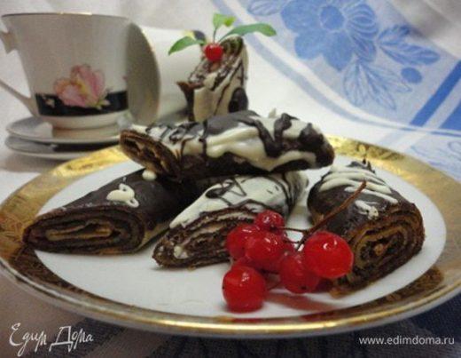 Ванильные блинчики с шоколадной начинкой
