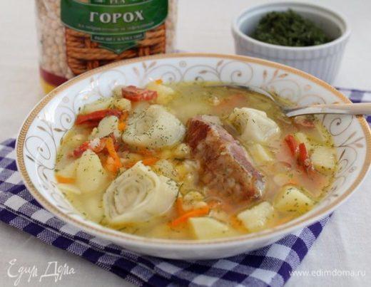 Гороховый суп с рулетиками