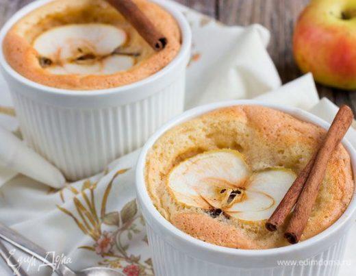 Творожное суфле с яблоками