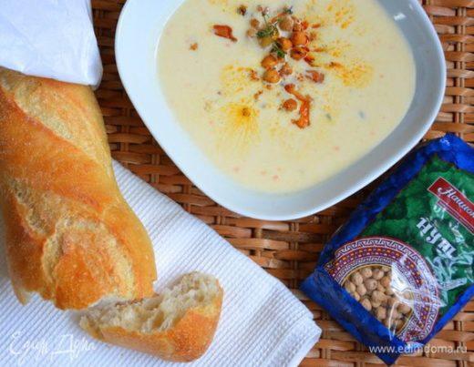 Суп-пюре из цветной капусты с нутом