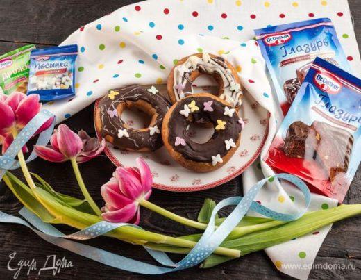 Классические пончики со сладкой помадкой