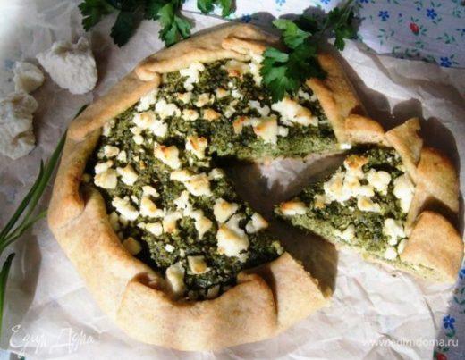 Галета с зеленью и адыгейским сыром