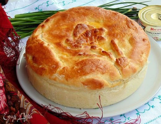 Пирог с тунцом «Золотая рыбка»