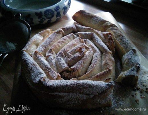 Пирог «Улитка» из теста фило