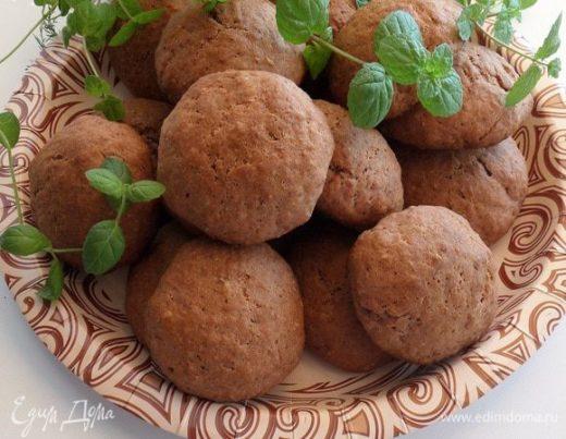 Клубничное печенье с отрубями