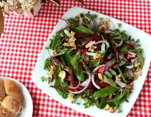 Салат из редиса и свеклы