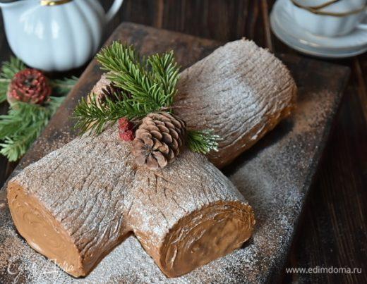 Торт «Рождественское полено»