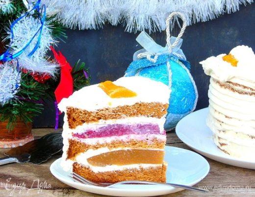 Торт с ягодной прослойкой