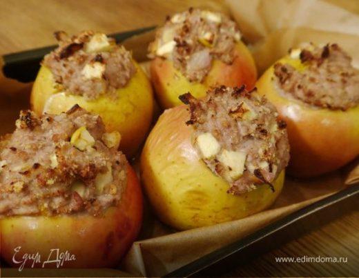 Яблоки, фаршированные телятиной