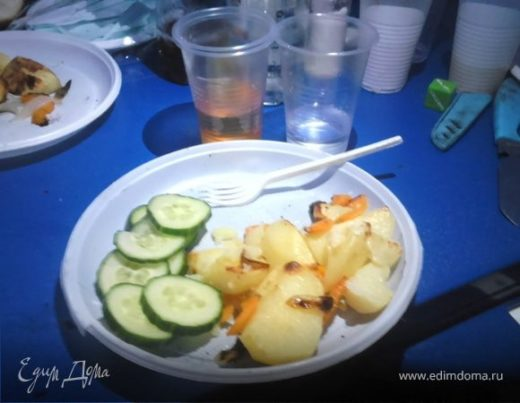 Картошка на природе
