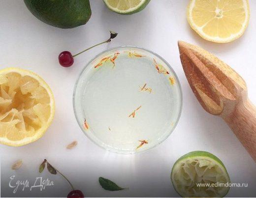 Лимонный детокс с шафраном