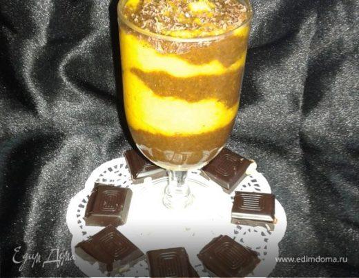 Яркий тыквенно-шоколадный смузи