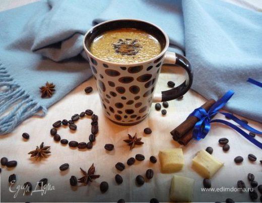 Кофе с белым шоколадом и корицей