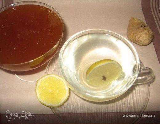 Имбирно-лимонный напиток с медом