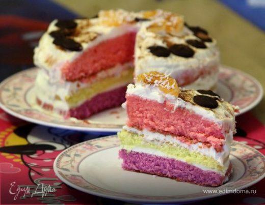 Торт «Цветное настроение»