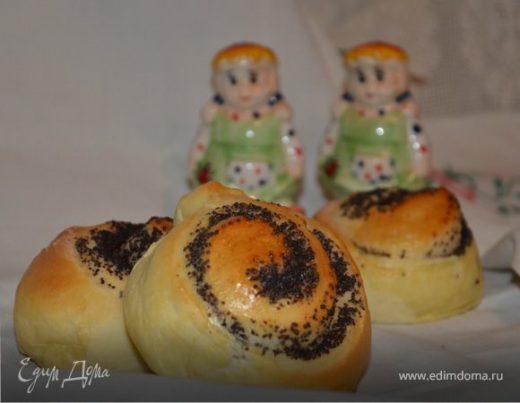 Дрожжевые булочки с маком