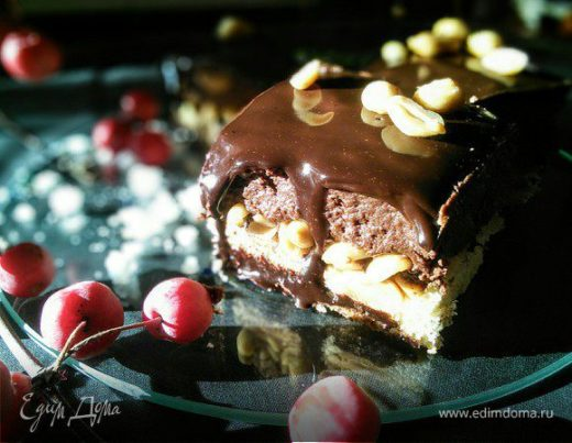 Арахисово-шоколадные пирожные