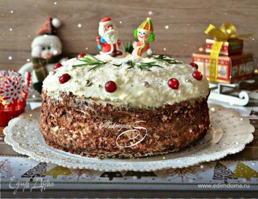 Черемуховый торт «Рождественская сказка»