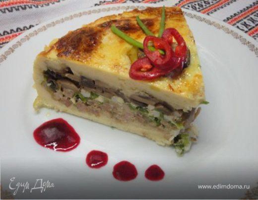Картофельный пирог с тремя начинками