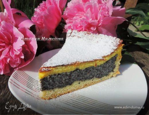 Маковый пирог со сметанной заливкой