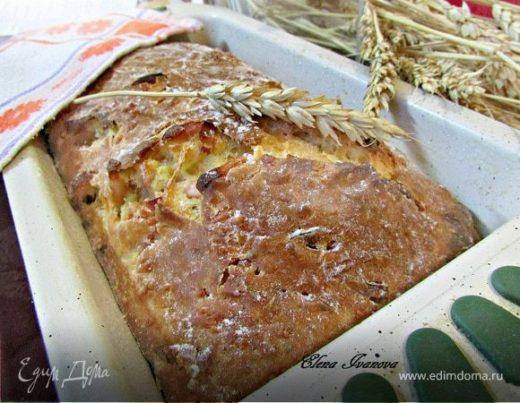 Закусочный пирог с ветчиной и сыром