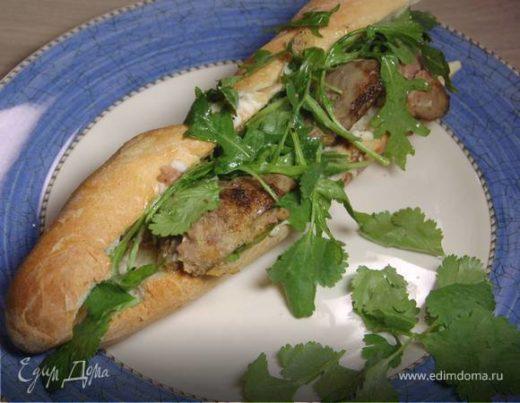 Сэндвич с куриной печенью