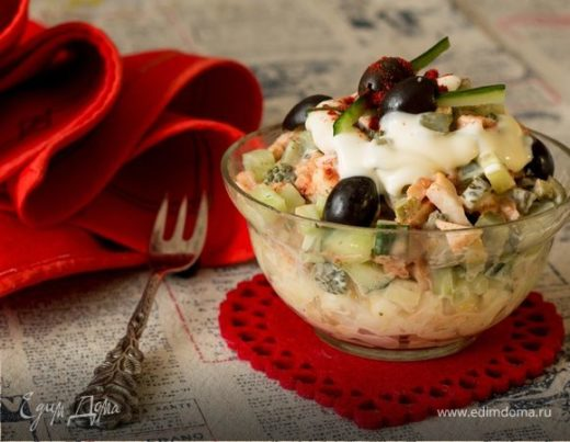 Салат с кальмарами «Прелюдия»