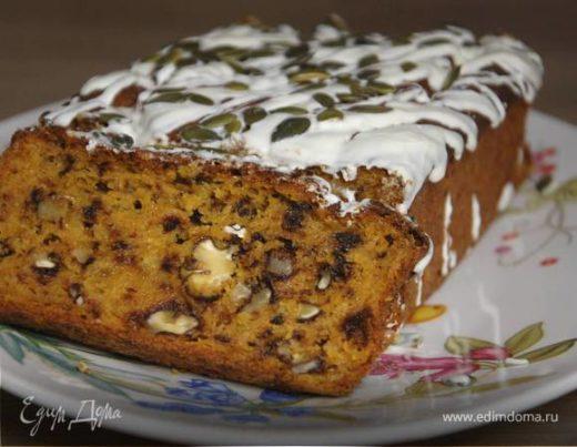 Пирог из тыквы с грецкими орехами