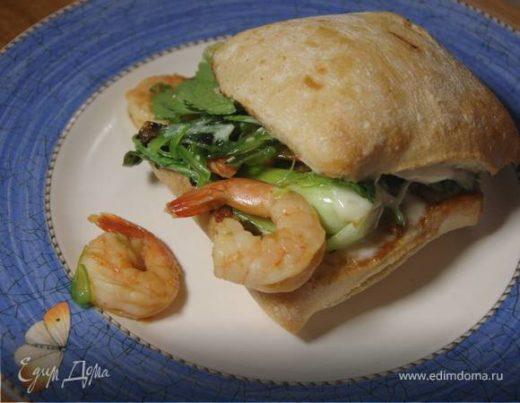 Бутерброды с креветками-мисо