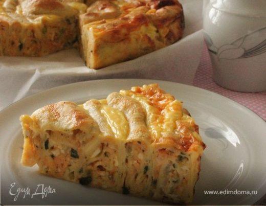 Блинный луковый пирог