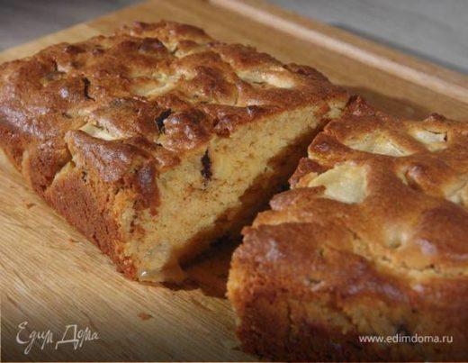 Кекс на арахисовом масле с яблоком и шоколадом