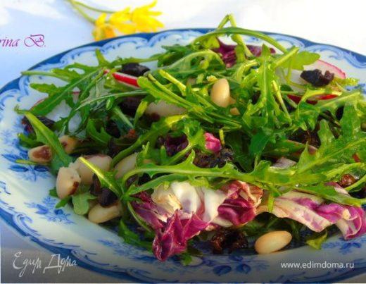 Салат с фасолью и черносливом