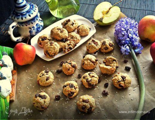 Овсяное печенье из отрубей (без яиц)