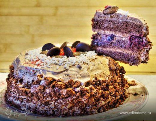 Торт шоколадно-сливочно-вишневый «Летающий»
