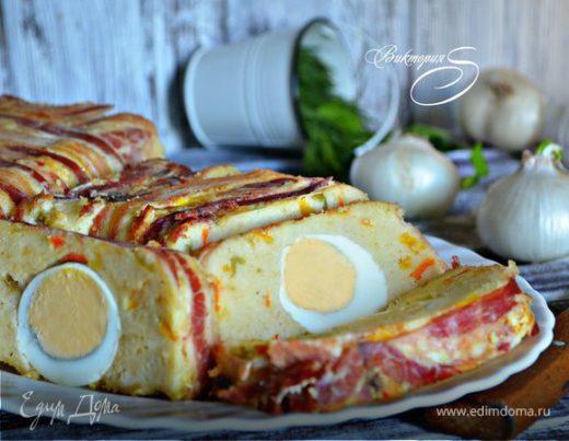 Террин с кускусом и яйцом