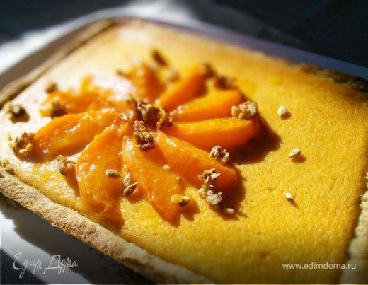 Ореховый тарт с персиковым курдом