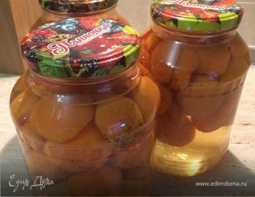 Абрикосы в сахарном сиропе (на зиму)