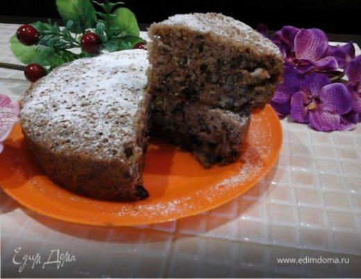 Морковный пирог «Мираж» с грецкими орехами и изюмом