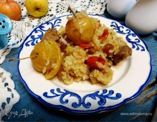 Рисовая каша «Ароматная» с мясом и яблоками