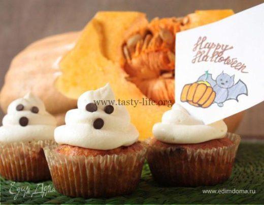 Тыквенно-апельсиновые кексы «Привидения»