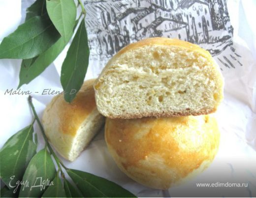 Нежные булочки с цедрой лимона и апельсина